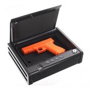Rottner-Pistolenkassette-Gunmaster-mit-Fingerscan-Tastenkombination-oder-Hauptschlssel–Bodenverankerung–Fingerprint–Waffenkassette–Tresor-fr-Pistolen-0