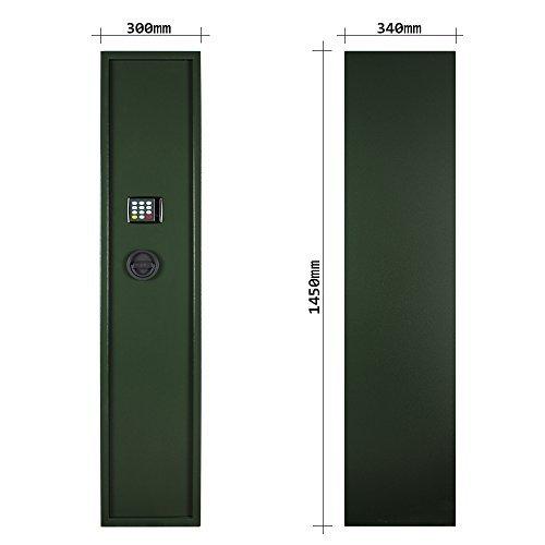 Rottner-Waffenschrank-Guntronic-5-Farbe-Grn-Waffentresor-Begrenzter-Feuerschutz-Elektronikschloss-5-Langwaffen-0-1